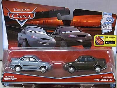 MATTEL CARS 2016 2PACK HEATHER DRIFENG & MICHELLE MOTORETTA ブリスター傷み特価