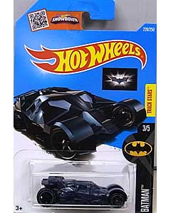 MATTEL HOT WHEELS 1/64スケール 2016 BATMAN THE DARK KNIGHT TRILOGY THE DARK KNIGHT BATMOBILE #228 [NAVY BLUE]