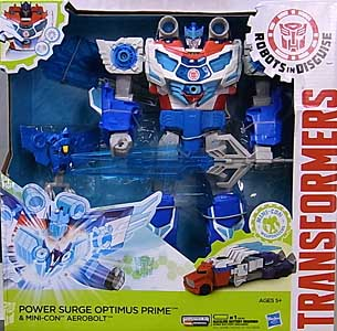 HASBRO アニメ版 TRANSFORMERS ROBOTS IN DISGUISE POWER SURGE OPTIMUS PRIME & MINI-CON AEROBOLT