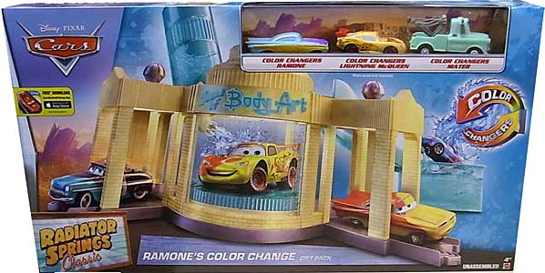 MATTEL CARS 2016 RADIATOR SPRINGS CLASSIC COLOR CHANGERS RAMONE'S COLOR CHANGE GIFT PACK パッケージ傷み特価