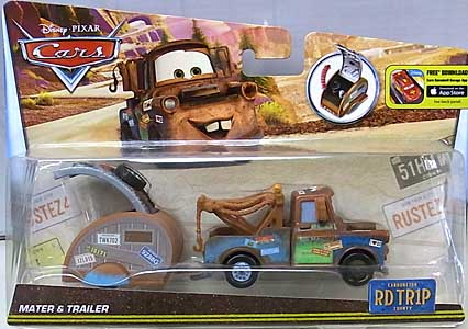 MATTEL CARS 2016 ROAD TRIP MATER & TRAILER