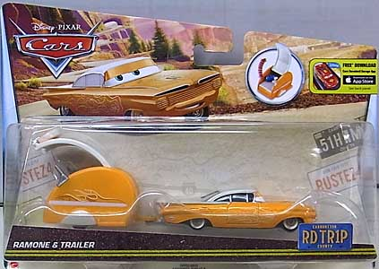 MATTEL CARS 2016 ROAD TRIP RAMONE & TRAILER