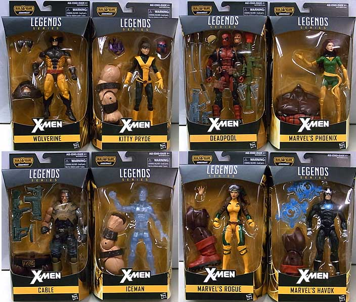 HASBRO MARVEL LEGENDS 2016 X-MEN SERIES 1.0 8種セット [JUGGERNAUT SERIES] [並行輸入版]