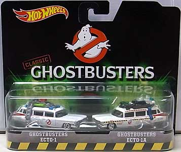 MATTEL HOT WHEELS 1/64スケール 2016 GHOSTBUSTERS CLASSIC ECTO-1 & ECTO-1A 2PACK