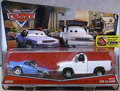MATTEL CARS 2016 2PACK ARTIE & BRIAN FEE CLAMP ブリスター傷み特価