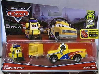 MATTEL CARS 2016 2PACK JEFF GORVETTE PITTY & JOHN LASSETIRE