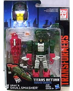HASBRO TRANSFORMERS GENERATIONS TITANS RETURN DELUXE CLASS GRAX & SKULLSMASHER