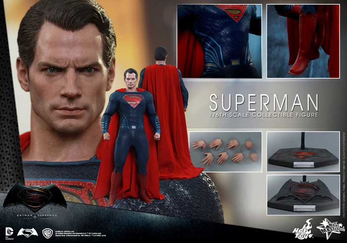 HOT TOYS MOVIE MASTERPIECE 1/6スケール BATMAN V SUPERMAN: DAWN OF JUSTICE SUPERMAN