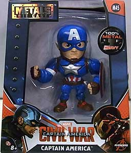 JADA TOYS 映画版 CAPTAIN AMERICA: CIVIL WAR METALS DIE CAST 4インチフィギュア CAPTAIN AMERICA