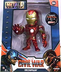 JADA TOYS METALS DIE CAST 4インチフィギュア 映画版 CAPTAIN AMERICA: CIVIL WAR IRON MAN