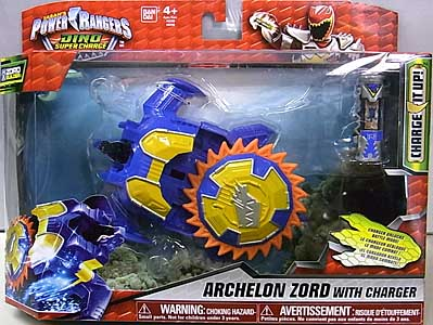 USA BANDAI POWER RANGERS DINO SUPER CHARGE ARCHELON ZORD WITH CHARGER