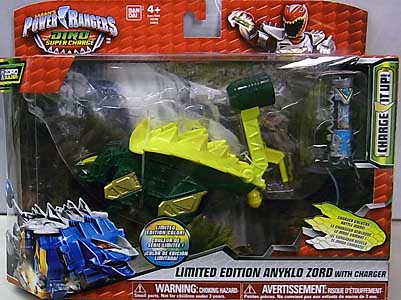 USA BANDAI POWER RANGERS DINO SUPER CHARGE LIMITED EDITION ANYKLO ZORD WITH CHARGER