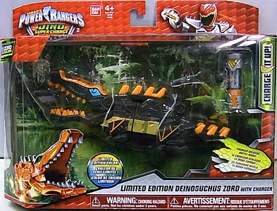 USA BANDAI POWER RANGERS DINO SUPER CHARGE LIMITED EDITION DEINOSUCHUS ZORD WITH CHARGER パッケージ傷み特価