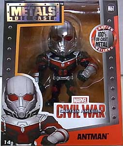 JADA TOYS 映画版 CAPTAIN AMERICA: CIVIL WAR METALS DIE CAST 4インチフィギュア ANTMAN