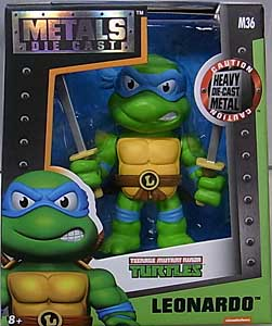 JADA TOYS NICKELODEON TEENAGE MUTANT NINJA TURTLES METALS DIE CAST 4インチフィギュア LEONARDO