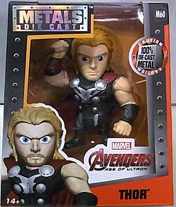 JADA TOYS 映画版 AVENGERS: AGE OF ULTRON METALS DIE CAST 4インチフィギュア THOR