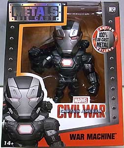 JADA TOYS 映画版 CAPTAIN AMERICA: CIVIL WAR METALS DIE CAST 4インチフィギュア WAR MACHINE