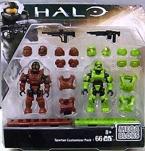 MEGA BLOKS HALO SPARTAN CUSTOMIZER PACK SPARTAN SOLDIER & SPARTAN RECRUIT