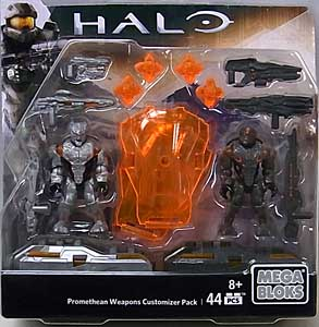 MEGA BLOKS HALO PROMETHEAN WEAPONS CUSTOMIZER PACK PROMETHEAN SOLDIER & PROMETHEAN SNIPER