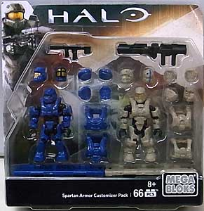 MEGA BLOKS HALO SPARTAN ARMOR CUSTOMIZER PACK SPARTAN DEFENDER & SPARTAN WARRIOR