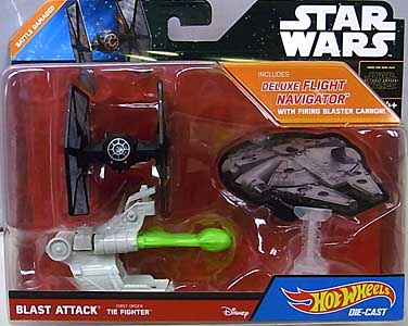 MATTEL HOT WHEELS STAR WARS THE FORCE AWAKENS DIE-CAST VEHICLE BLAST ATTACK FIRST ORDER TIE FIGHTER [BATTLE DAMAGED]