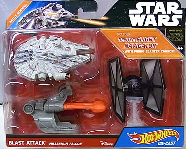 MATTEL HOT WHEELS STAR WARS THE FORCE AWAKENS DIE-CAST VEHICLE BLAST ATTACK MILLENNIUM FALCON [BATTLE DAMAGED]