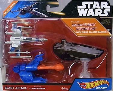 MATTEL HOT WHEELS STAR WARS THE FORCE AWAKENS DIE-CAST VEHICLE BLAST ATTACK RESISTANCE X-WING FIGHTER [BATTLE DAMAGED]