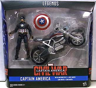 HASBRO MARVEL LEGENDS SERIES 2016 3.75インチアクションフィギュア  映画版 CAPTAIN AMERICA: CIVIL WAR CAPTAIN AMERICA WITH MOTORCYCLE