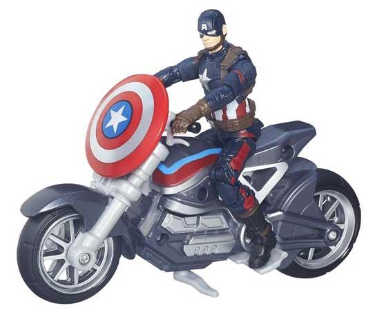 HASBRO MARVEL LEGENDS SERIES 2016 3.75インチアクションフィギュア  映画版 CAPTAIN AMERICA: CIVIL WAR CAPTAIN AMERICA WITH MOTORCYCLE