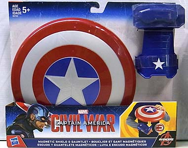 HASBRO 映画版 CAPTAIN AMERICA: CIVIL WAR MAGNETIC SHIELD & GAUNTLET
