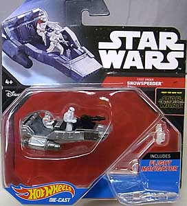 MATTEL HOT WHEELS STAR WARS THE FORCE AWAKENS DIE-CAST VEHICLE FIRST ORDER SNOWSPEEDER