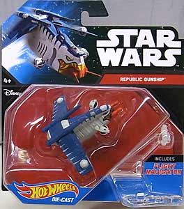 MATTEL HOT WHEELS STAR WARS DIE-CAST VEHICLE REPUBLIC GUNSHIP
