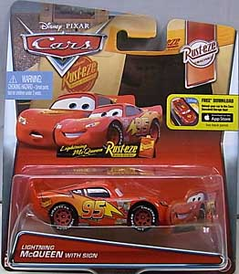 MATTEL CARS 2016 シングル LIGHTNING McQUEEN WITH SIGN 台紙傷み特価
