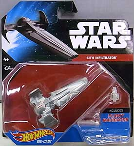 MATTEL HOT WHEELS STAR WARS DIE-CAST VEHICLE SITH INFILTRATOR 台紙傷み特価