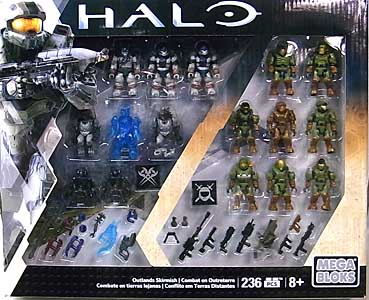 MEGA BLOKS HALO COLLECTOR PACK OUTLANDS SKIRMISH パッケージ傷み&パーツ外れ特価
