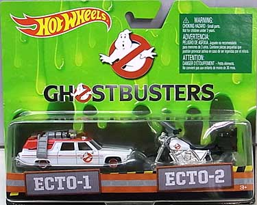 MATTEL HOT WHEELS 1/64スケール GHOSTBUSTERS 2016 ECTO-1 & ECTO-2 2PACK