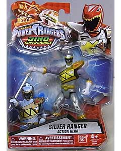 USA BANDAI POWER RANGERS DINO SUPER CHARGE 5インチアクションフィギュア SILVER RANGER