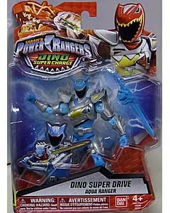 USA BANDAI POWER RANGERS DINO SUPER CHARGE 5インチアクションフィギュア DINO SUPER DRIVE AQUA RANGER