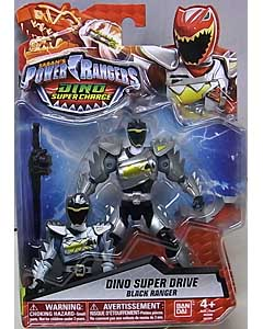 USA BANDAI POWER RANGERS DINO SUPER CHARGE 5インチアクションフィギュア DINO SUPER DRIVE BLACK RANGER