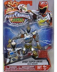 USA BANDAI POWER RANGERS DINO SUPER CHARGE 5インチアクションフィギュア DINO SUPER DRIVE GOLD RANGER