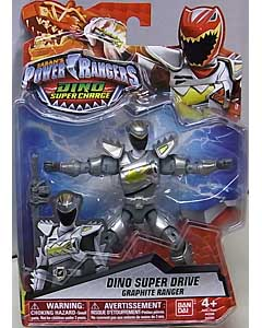 USA BANDAI POWER RANGERS DINO SUPER CHARGE 5インチアクションフィギュア DINO SUPER DRIVE GRAPHITE RANGER