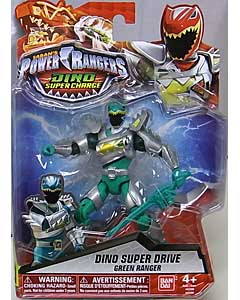USA BANDAI POWER RANGERS DINO SUPER CHARGE 5インチアクションフィギュア DINO SUPER DRIVE GREEN RANGER