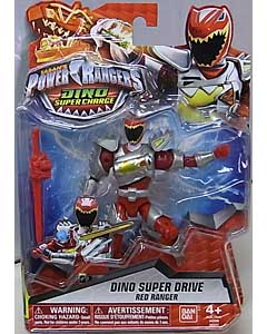 USA BANDAI POWER RANGERS DINO SUPER CHARGE 5インチアクションフィギュア DINO SUPER DRIVE RED RANGER 台紙傷み特価