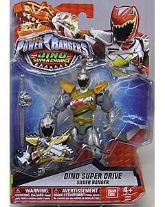 USA BANDAI POWER RANGERS DINO SUPER CHARGE 5インチアクションフィギュア DINO SUPER DRIVE SILVER RANGER