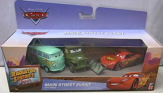 MATTEL CARS 2016 RADIATOR SPRINGS CLASSIC MAIN STREET EVENT 3PACK