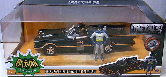 JADA TOYS METALS DIE CAST 1/24スケール BATMAN CLASSIC TV SERIES CLASSIC TV SERIES BATMOBILE & BATMAN パッケージ傷み特価
