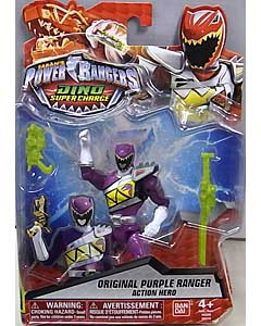 USA BANDAI POWER RANGERS DINO SUPER CHARGE 5インチアクションフィギュア ORIGINAL PURPLE RANGER 台紙傷み特価