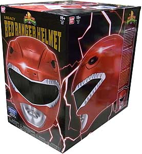 USA BANDAI POWER RANGERS MIGHTY MORPHIN LEGACY RED RANGER HELMET パッケージ傷み特価