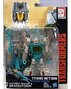 HASBRO TRANSFORMERS GENERATIONS TITANS RETURN DELUXE CLASS AUTOBOT TESLOR & BRAINSTORM