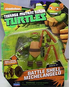 PLAYMATES NICKELODEON TEENAGE MUTANT NINJA TURTLES ベーシックフィギュア 2015 BATTLE SHELL MICHELANGELO